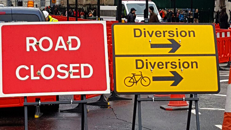 road closure and diversion route